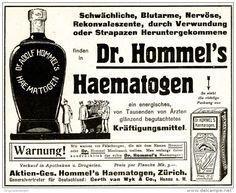 Original-Werbung/Anzeige 1916 - DR.HOMMEL'S HAEMATOGEN / MOTIV SOLDATEN - ca. 135 x 110 mm
