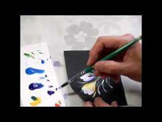 【トールペイント】描き方⑨クロッカス Crocus - YouTube