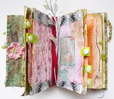 Altered Book Spring Flowers Design by RobinsArtAndDesign on Etsy, $150.00