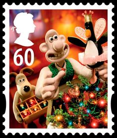 Wallace and Gromit Christmas stamp