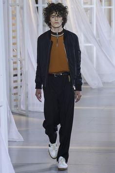 knitted zipper polo | Ami Spring 2017 Menswear Fashion Show