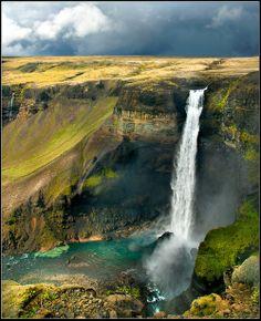 The Haifoss Waterfall, Iceland