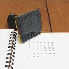 【水縞/mizushima】ハンコ 万年カレンダー - 文房具通販|ブンドキ.com