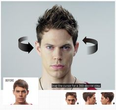 have a 360 degree view of the hairstyle done with MOVING RUBBER!