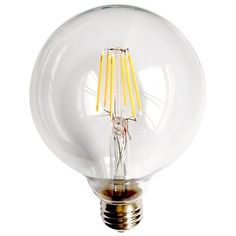 Clear 8 Watt Dimmable G25 LED Filament Light Bulb