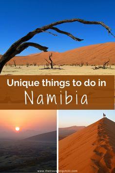 25 Unique things to do in Namibia - Sossusvlei - Deadvlei - Africa ******************************************** africa | watch the sunrise in sossusvlei dune 45 | adrenaline activites swakopmund | walvisbay | etosha national park