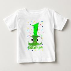 cute funny baby monster first birthday shirt