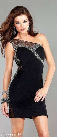 JOVANI -Cute Little Black Dress