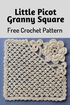 Little Picot Granny Square Is Really Unique And Amazing! [Crochet Diagram Pattern] – Knit And Crochet Daily Little Picot Granny Square Is Really Unique And Amazing! [Crochet Diagram Pattern] – Knit And Crochet Daily,Crochet. Crochet Blocks, Granny Square Crochet Pattern, Crochet Diagram, Crochet Stitches Patterns, Crochet Squares, Knitting Patterns, Afghan Patterns, Free Knitting, Crochet Block Stitch