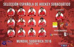 Selección Masculina Española Hockey Subacuático 2016