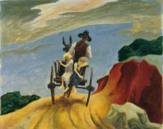 Thomas Hart Benton (1889-1975) Going Home (1934) 30 x 40.6 cm