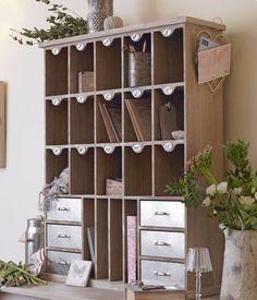Office organiser - rustic pigeon holes