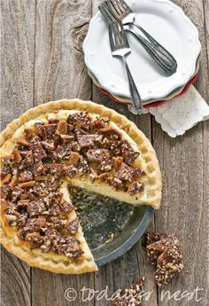 Pecan Toffee Cheesecake Pie by Sam Henderson of Today's Nest