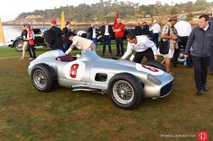 Putting the finishing touches on the Mercedes-Benz W196 R