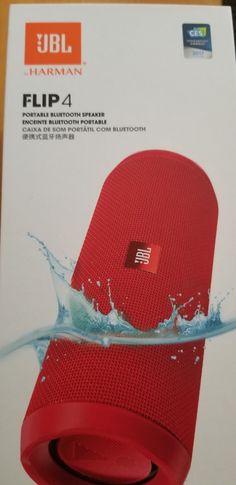 JBL Flip 4 Portable Speaker System - New (Never Been Used) - Red