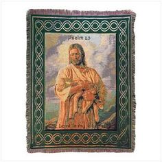 Spiritual Inspirations Tapestry Throw - Lord Is My Shepherd  Free Shipping!