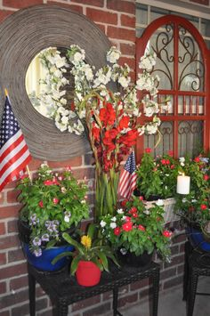 4th of July porch decorating ideas | ... 4th of July party on the patio! Hope you enjoy our red, white and blue