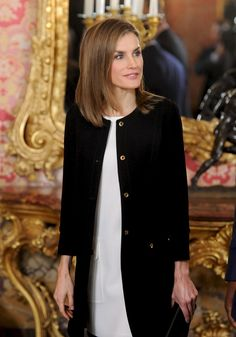King Felipe of Spain and Queen Letizia of Spain receive Senegal's President Macky Sall at the Royal Palace on December 15, 2014 in Madrid, Spain.