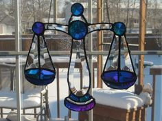 stained glass scales of justice Stained Glass Projects, Wind Chimes, Food Scale, Glass Animals, Flooring, Outdoor Decor, Image, Home Decor, Decoration Home