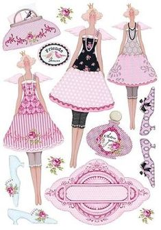 Tilda paper dolls by greta