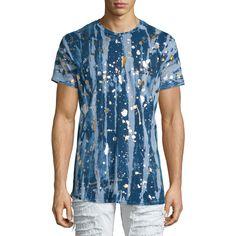 5e1ed4a6fd Robin's Jeans Gold Paint-Splatter Printed Short-Sleeve T-Shirt ($190)