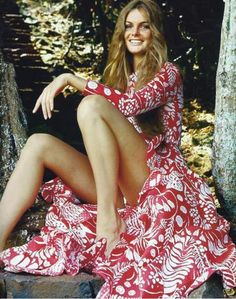 Jean Shrimpton in the mid Seventies.