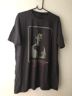 Authentic DAVID BOWIE Stars Portrait Slim-Fit T-Shirt S M L XL 2XL NEW