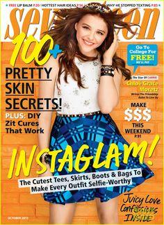 chloe moretz seventeen justjared photos | Chloe Moretz Covers 'Seventeen' Magazine October 2013 | Chloe Moretz ...