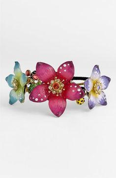 Betsey Johnson 'Hawaiian Luau' Floral Hinged Bangle