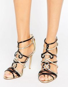 41957b767 Forever Unique Zig Zag Weaved Strap Heeled Sandal (118 CAD) ❤ liked ...