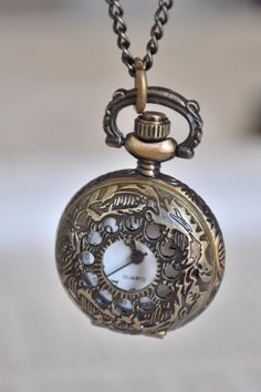 Victorian Style Pocket Watch Necklace