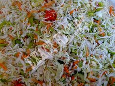 Ramen Cole Slaw This stuff is great in the Summer time. Especially when it is hot. No mayo. Slaw Recipes, Wine Recipes, Healthy Recipes, Healthy Foods, Coleslaw, Pickles, Cabbage, Salads, Yummy Food