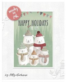 Personalized Christmas Card-Custom Christmas Card-Merry Custom Christmas Cards, Personalised Christmas Cards, Holiday Cards, Holiday Decor, Happy Holidays, Christmas Holidays, Merry Christmas, Christmas Ornaments, Yellow Daisies