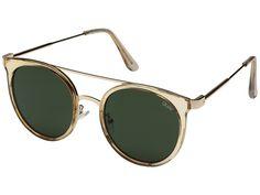 Quay Australia Kandygram Gold Green Aviator Sunglasses - Holly & Brooks