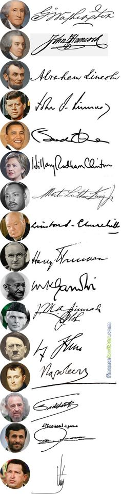 50 Rich & Famous People Signatures - Leader Politicians