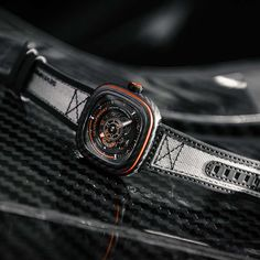 SEVENFRIDAY - P3C/09 Orange Carbon | Time and Watches | The watch blog Watch Blog, Sport Watches, Chronograph, Sporty, Orange, Accessories, Clocks, Ornament