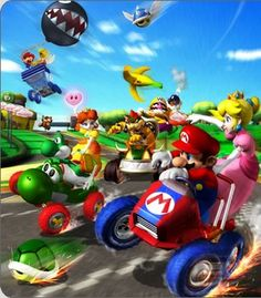 A description of tropes appearing in Mario Kart: Double Dash! The fourth installment of the Mario Kart series, released in 2003 on the Nintendo GameCube. Super Mario Bros, Super Mario World, Super Mario Brothers, Super Smash Bros, Mario Kart, Mario Und Luigi, Mario Bros., Tv Tropes, Game Character