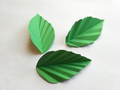 How to make a paper rose LEAF / Paper leaf DIY / Rose paper leaves,post_tags] Easy Paper Flowers, Paper Flower Tutorial, Diy Flowers, Origami Leaves, Origami Rose, Leaf Template, Flower Template, Leaf Crafts, Flower Crafts