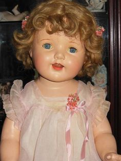 """VINTAGE MADAME ALEXANDER COMPOSITION LARGE 29"""" ORIGINAL TAGGED DOLL 