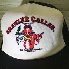 Crawler Caller Bait Products Post Falls Idaho Fishing Trucker Cap Hat Vintage  #Unbranded #TruckerHat