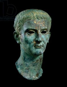 Imperial portrait of Emperor Caligula, gilt bronze, Roman, 1st century AD | Museum of Fine Arts, Houston