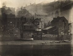 Aftermath of a warehouse fire , riverside , Gateshead , Tyneside, North-East England c.1879. Photographer Unknown. From the archives of Newcastle City Library