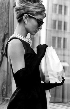 Quintessential icon. Audrey Hepburn in Breakfast at Tiffany's