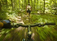Action shot! Trail Maps, Fun Events, Beautiful Landscapes, Mountain Biking, Ontario, Shots, Hiking, Action, Places