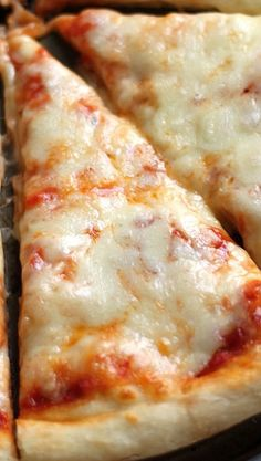 The Best New York Style Cheese Pizza EVER! And so easy to make at home!