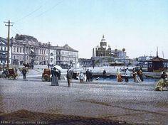 Kauppatorin näkymä vuonna 1895. Kuva: Helsingin kaupunginmuseo