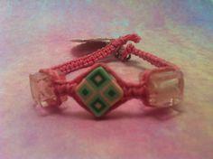 #Pink & #Lime Beaded #Hemp #Bracelet by #HemptressDesigns on Etsy, $5.00 hemptressdesigns.com