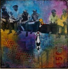 #Original #Abstract #Painting #Encaustic #MixedMedia #Sylvester #Tweety #Art #Wax #Cartoon  #Parody