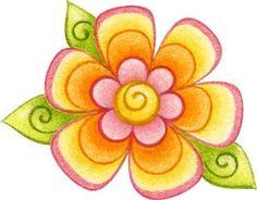 dibujos de flores de coloresImagenes y dibujos para imprimir