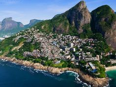 Vidigal, a trendy favela, was one of the first to be refurbished just in time for the 2014 FIFA World Cup.Rio de Janeiro